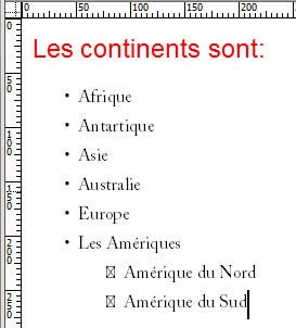 Eléments de la liste simple$